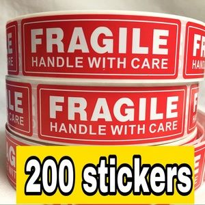200 FRAGILE handle with care stickers || mix 4x$20